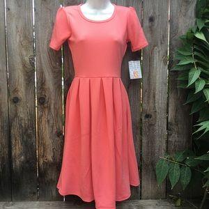 LuLaRoe Amelia Dress size XS Pink